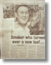 Chris and his tobacco seeds have been in the press many times. See our press page